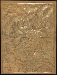 J. Schedler's relief map of the White Mountains, N.H