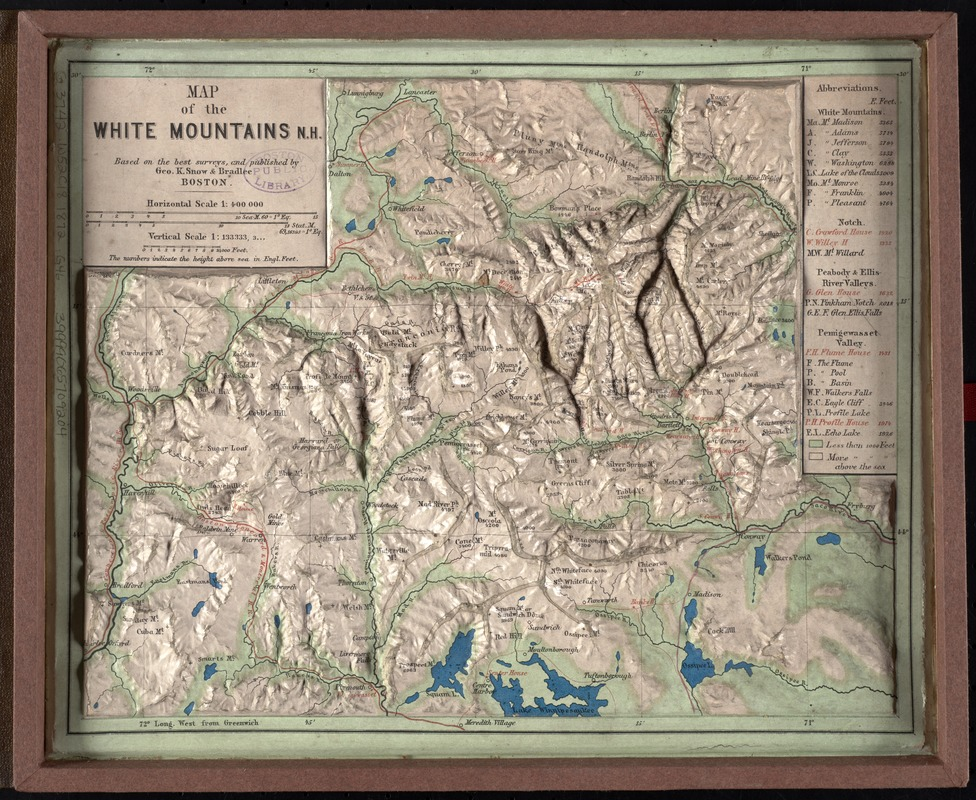 Map of the White Mountains, N.H