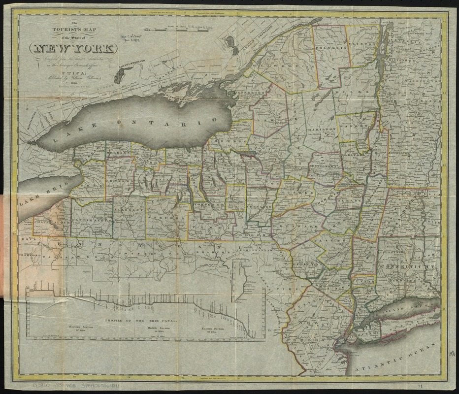 The tourist's map of the state of New York