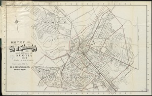 Map of city of Schenectady and village of Scotia, 1917