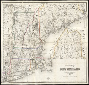 Commercial map of New England