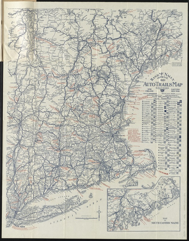 Rand McNally official 1920 auto trails map