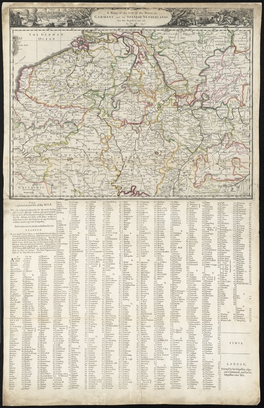 A mapp of the seat of the warrs in Germany and the Spanish Netherlands, for His Majesties own use