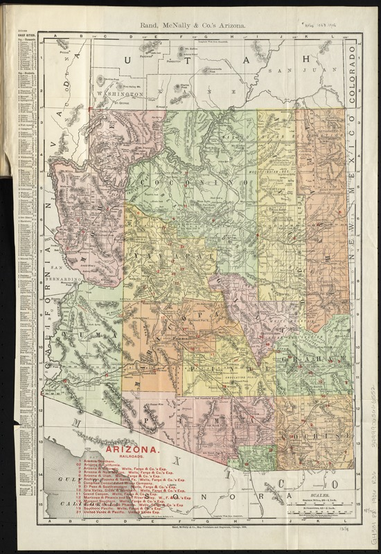 Rand, McNally & Co.'s Arizona