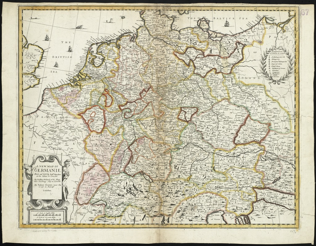 A new map of Germanie