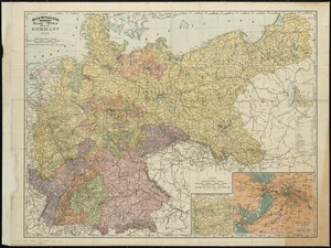 Rand, McNally & Co.'s indexed atlas of the world map of Germany