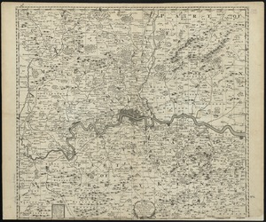 A map containing the towns, villages, gentlemens houses, roads, rivers & other remarks for 20 miles round London