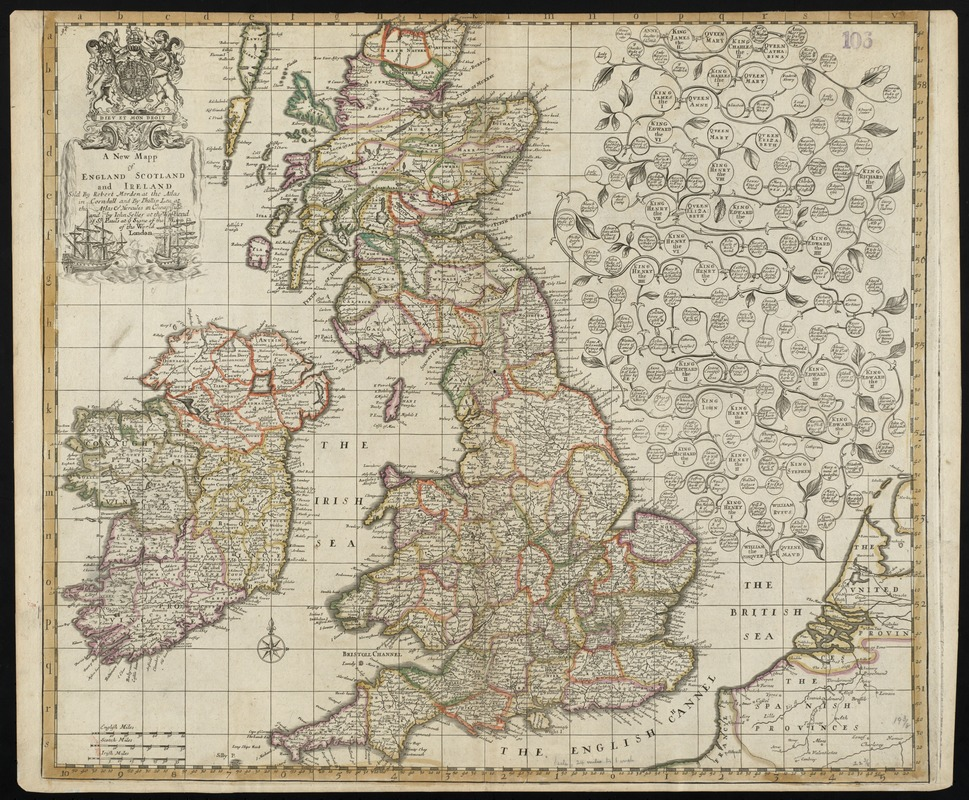 A new mapp of England Scotland and Ireland