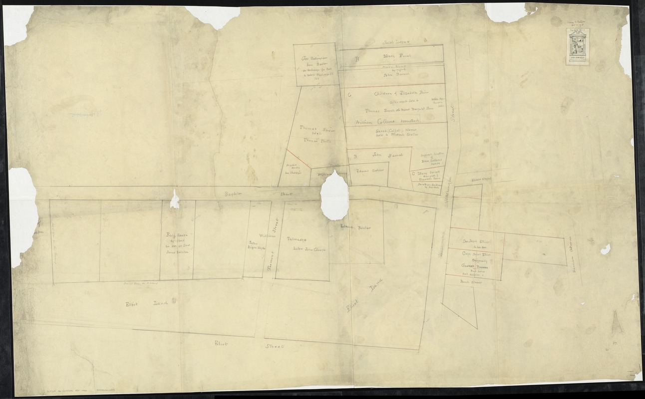 [Plan of lots in Chinatown (Boston), between Avery and Eliot Streets, and Tremont Street and Harrison Avenue]