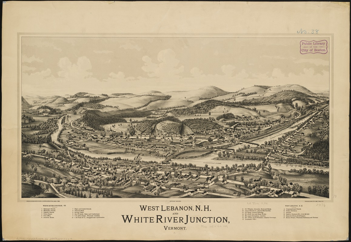 West Lebanon, N.H., and White River Junction, Vermont