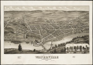 Birds eye view of Waterville, Kennebec Co. Maine