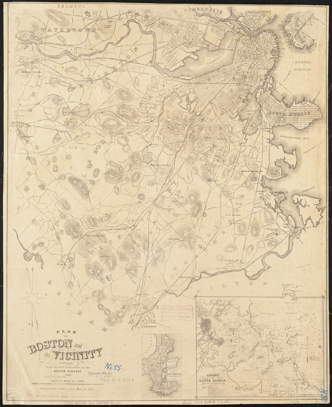 Plan of Boston and its vicinity