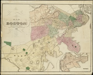 Map of Boston from the latest surveys