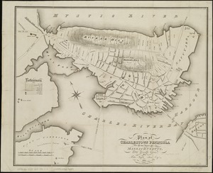 Plan of Charlestown peninsula in the state of Massachusetts
