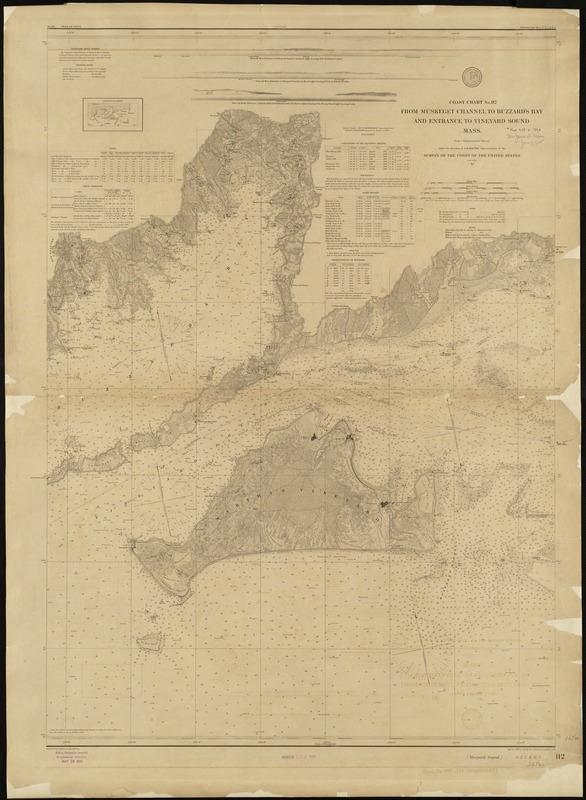 From Muskeget Channel to Buzzard's Bay and entrance to Vineyard Sound, Mass