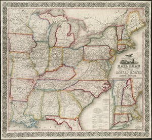 Ensign, Bridgman & Fanning's rail road map of the United States, showing the depots & stations