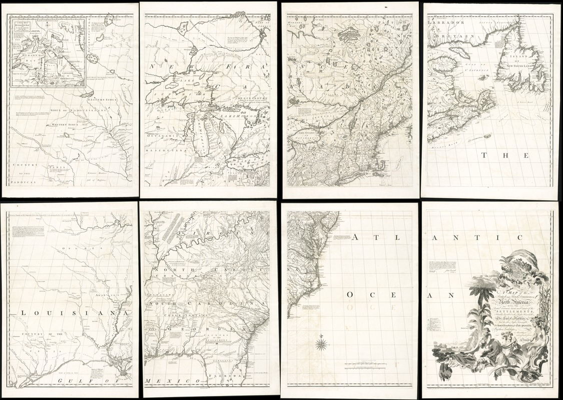 A map of the British and French dominions in North America