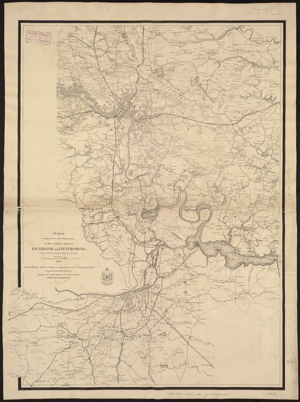 Region embraced in the operations of the armies against Richmond and Petersburg