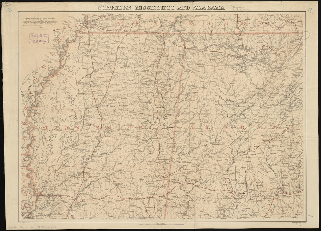 Northern Mississippi and Alabama