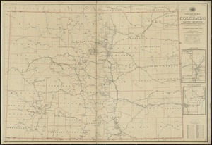 Post route map of the State of Colorado showing post offices with the intermediate distances on mail routes in operation on the 1st of December, 1903