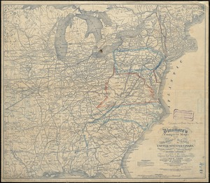 Dinsmore's complete map of the railroads & canals in the United States & Canada