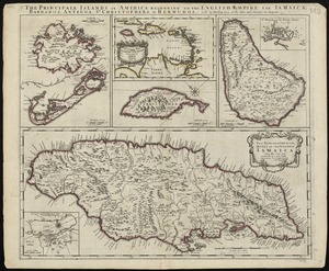 The principall islands in America belonging to the English empire viz Iamaica, Barbados, Antegoa, St. Christophers & Bermudos
