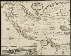 A mapp of New Jersey in America