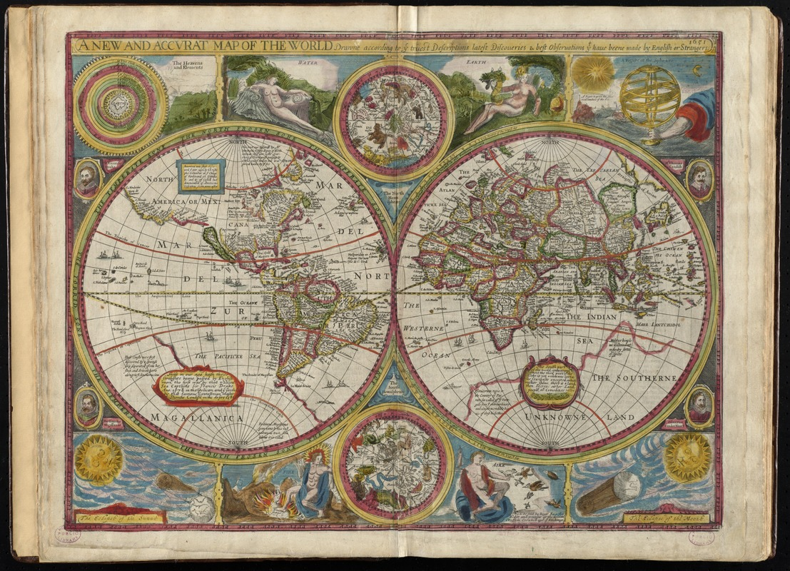 A new and accurat map of the world   Norman B. Leventhal Map