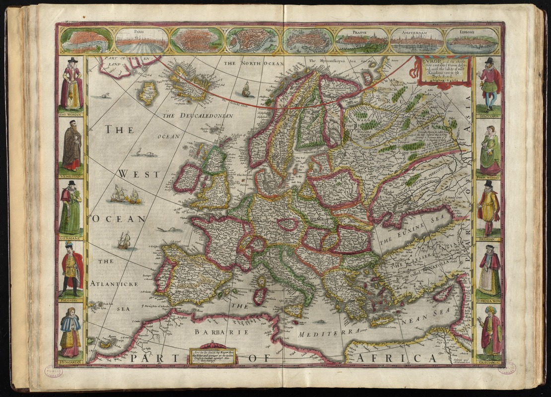 Europ, and the cheife cities contayned therin, described; with the habits of most kingdoms now in use