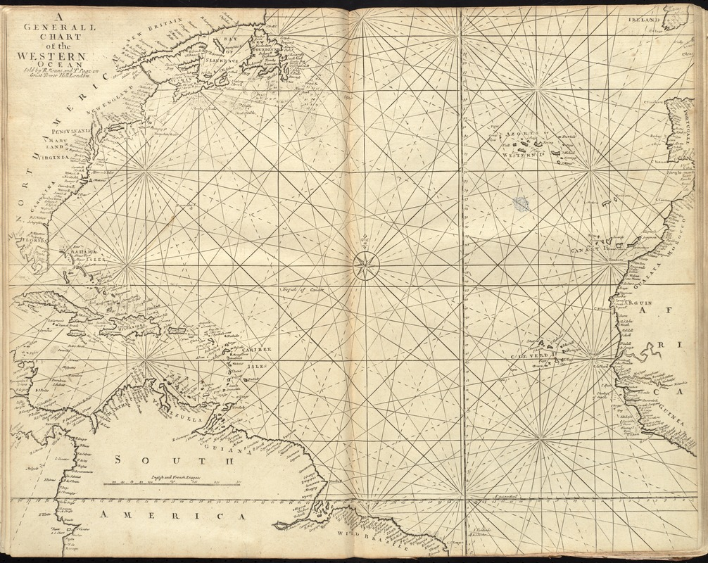 A generall chart of the western ocean