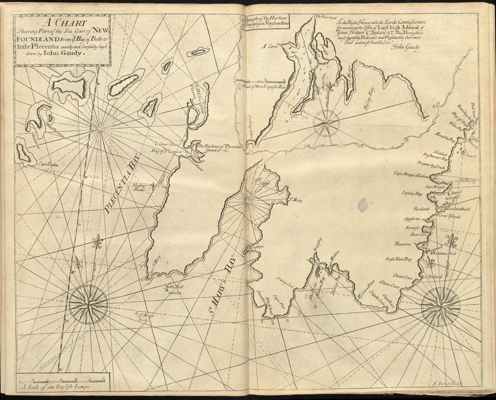 A chart shewing part of the sea coast of Newfoundland from ye Bay of Bulls to little Plecentia