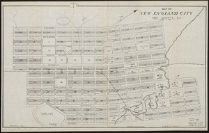 Map of New England City, Dade County, Ga