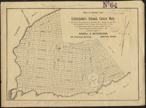 Plan of cottage lots on Littlejohn's Island, Casco Bay, about 7 1/2 miles northeast of Portland