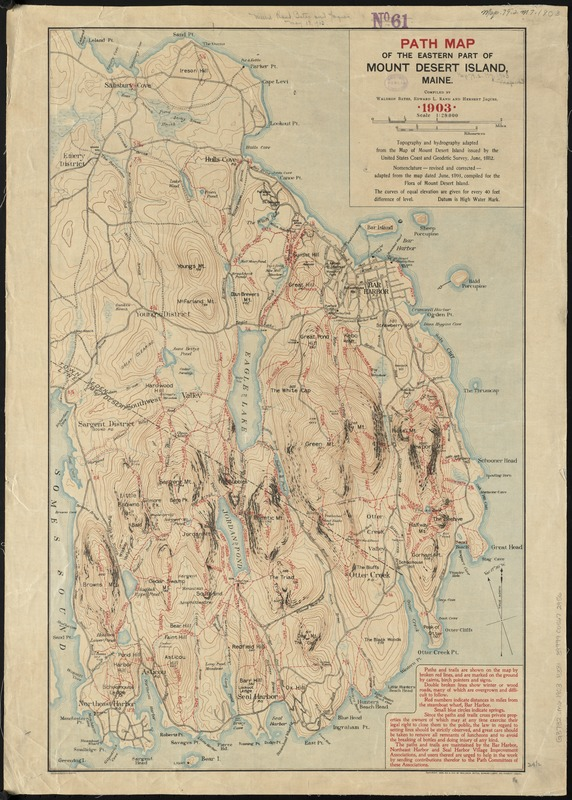 Path map of the eastern part of mount desert island maine digital path map of the eastern part of mount desert island maine gumiabroncs Gallery