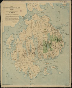 Map of Mount Desert Island, Maine