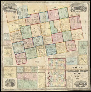 Map of Piscataquis County Maine