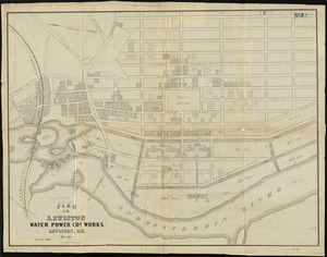 Plan of the Lewiston Water Power Co.'s works, Lewiston, Me