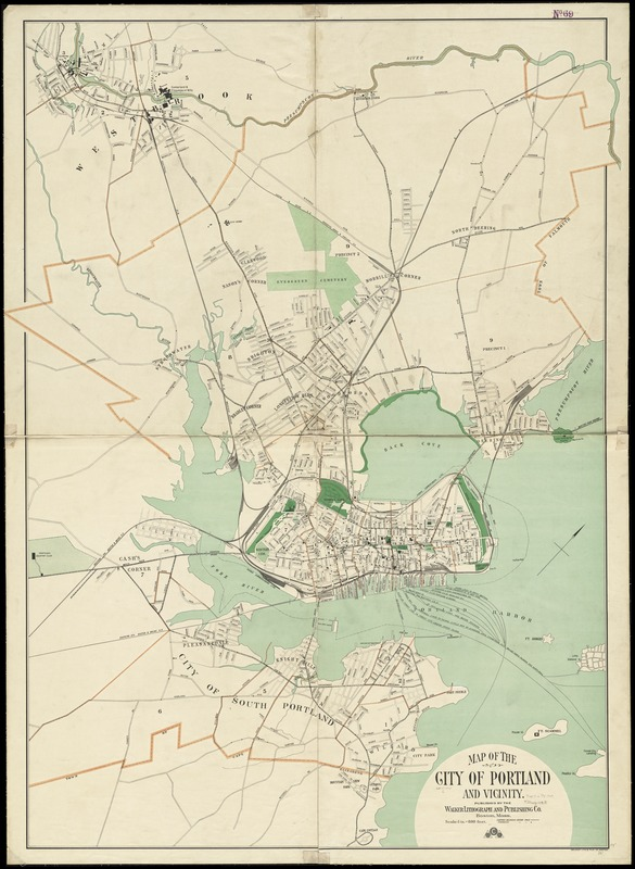 Map of the city of Portland and vicinity