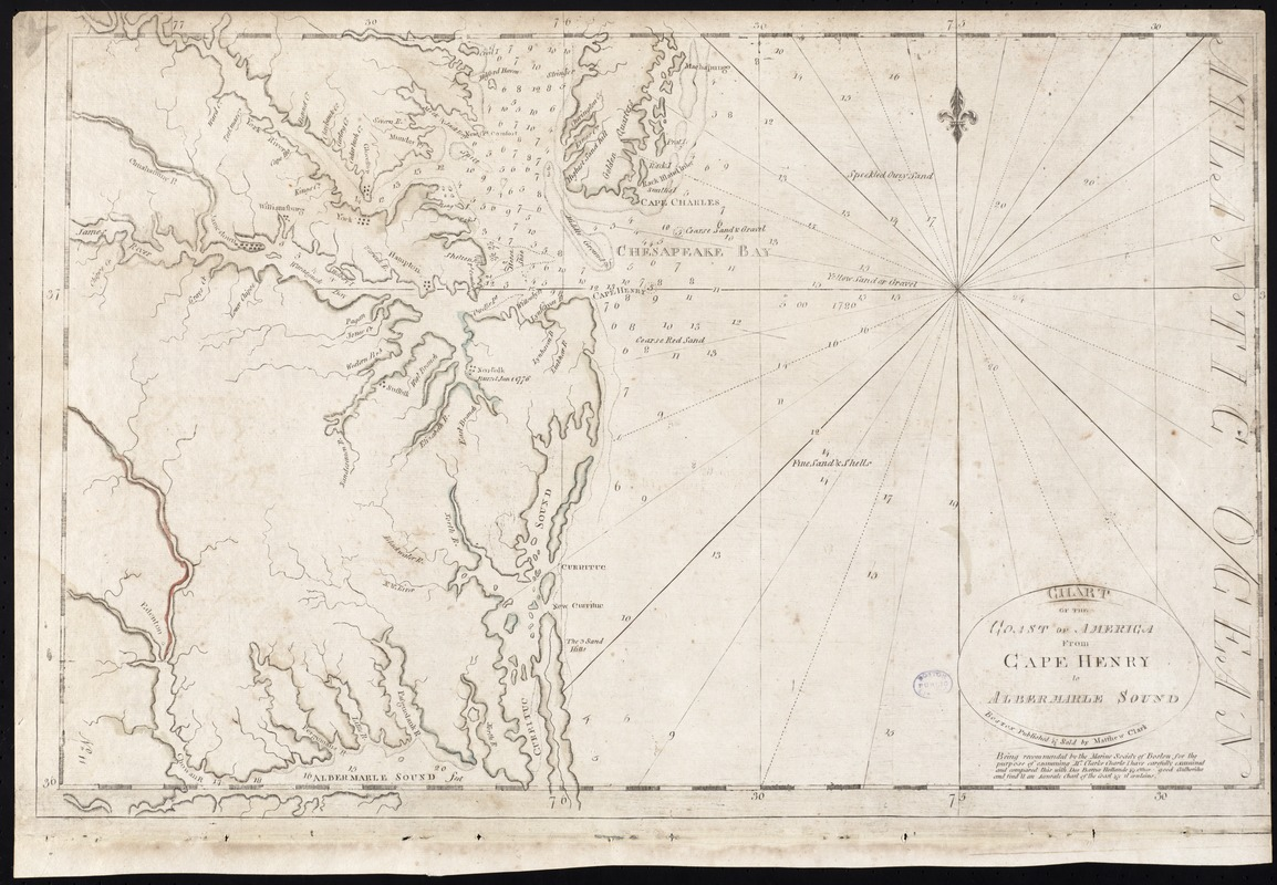 Chart of the coast of America from Cape Henry to Albermarle Sound