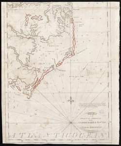 Chart of the coast of America from Albermarle Sound to Cape Lookout