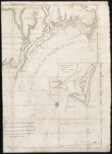 Chart of the coast of America from Cape Fear to Cape Look Out