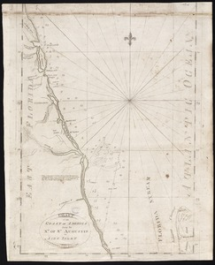 Chart of the coast of America from the Nd. of St. Augustin to Ayes Inlet