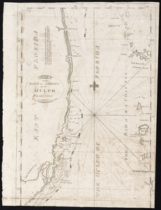 Chart of the coast of America thro' the Gulph of Florida