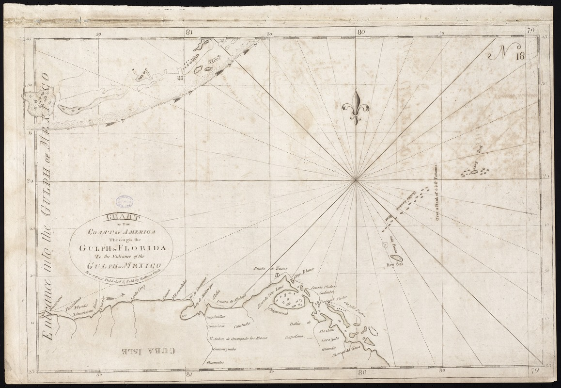 Chart of the coast of America through the Gulph of Florida to the entrance of the Gulph of Mexico
