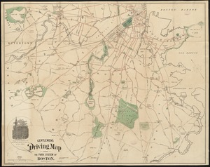 Gentlemen's driving map showing the park system of Boston