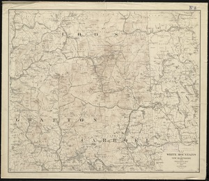 Map of the White Mountains of New Hampshire from Walling's map of the state 1877