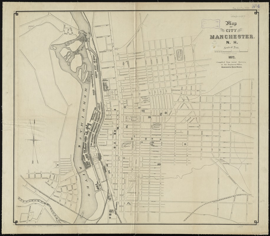 Map of the city of Manchester, N.H