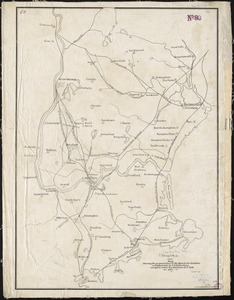 Map showing the proposed line of the Manchester Rail Road as petitioned for by S.D. Bell & others