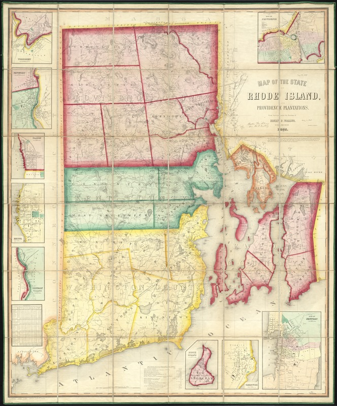 Map of the State of Rhode Island, and Providence Plantations