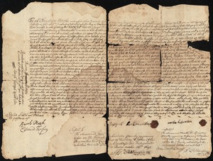 Some sort of legal document, mentions Joseph and Martha Buckminster